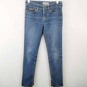 See by Chloe Distressed Ankle Zip Skinny Jeans 25